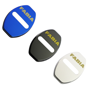Image 5 - LQY 4pcs Car Door Lock Buckle cover car sticker car accessories For Skoda Octavia FABIA KAMIQ KAROQ KODIAQ RAPID SCALA SUPERB