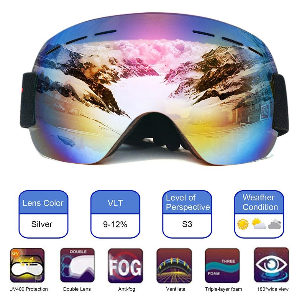 NEW Snowboard Ski Goggles Gear Skiing Sport Adult Glasses Anti-fog UV Dual Lens