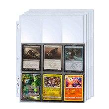 10-50 Uds álbum tarjetas de Pokemon titular de la página de álbum comercial juego de tarjetas YuGiOh colección transparente carpeta cubierta de la tarjeta de almacenamiento
