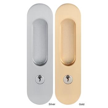 Cerradura de puerta corredera mango Anti-robo de Cerradura con llaves para Granero Puerta de mueble de madera pestillo Cerradura para puerta doble Cerradura Electronica