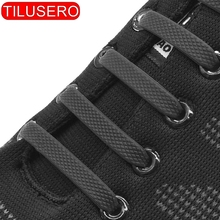 Silicone Elastic Shoelaces Special No Tie Shoelace Lacing Kids Adult Sneakers Quick Shoe Lace cheap tilusero CN(Origin) Solid no tie elastic shoelaces RT-002-005 16 pcs lot 12 pcs lot
