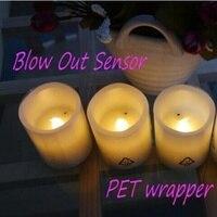 Real wax LED light day night sensor candle