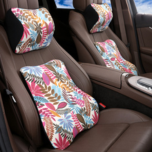 KKYSYELVA Neck Pillow Lumbar Waist Support Headrest Pillows Back Cushion Seat Supports Memory Foam Seat Covers Auto Accessories loen 1set of leather memory foam car seat support cover lumbar back cushion office chair lumbar support headrest neck pillow