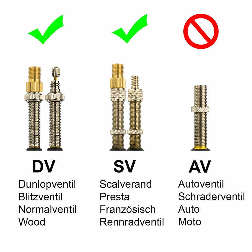 고품질 자전거 밸브 어댑터 dv, sv (dunlop, 프랑스 밸브) av (자동차 밸브) 린 자전거 액세서리 1/2/3/4/5/10 pcs