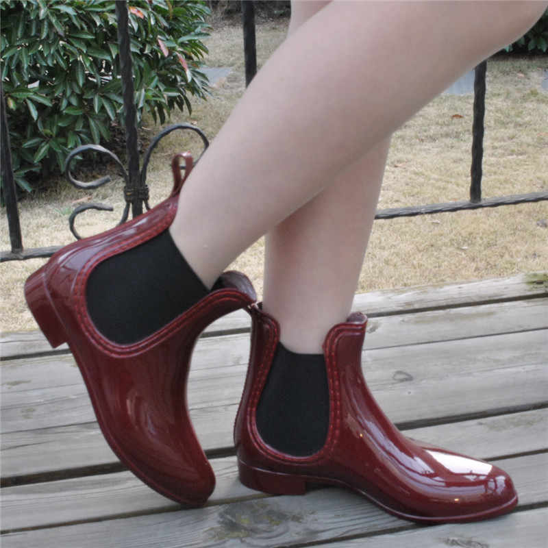 YeddaMavis Schuhe Gummi Schuhe Frauen Regen Stiefel Für Mädchen Damen Walking Wasserdichte PVC Frauen Stiefel Winter Frau Ankle Rain