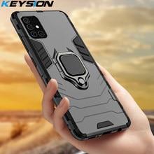 KEYSION, odporna na wstrząsy etui do Samsung Galaxy A71 A51 A81 A91 A70S A50 S10 uwaga 10 Lite telefon pokrywa dla Samsung A41 A11 A01 M30s