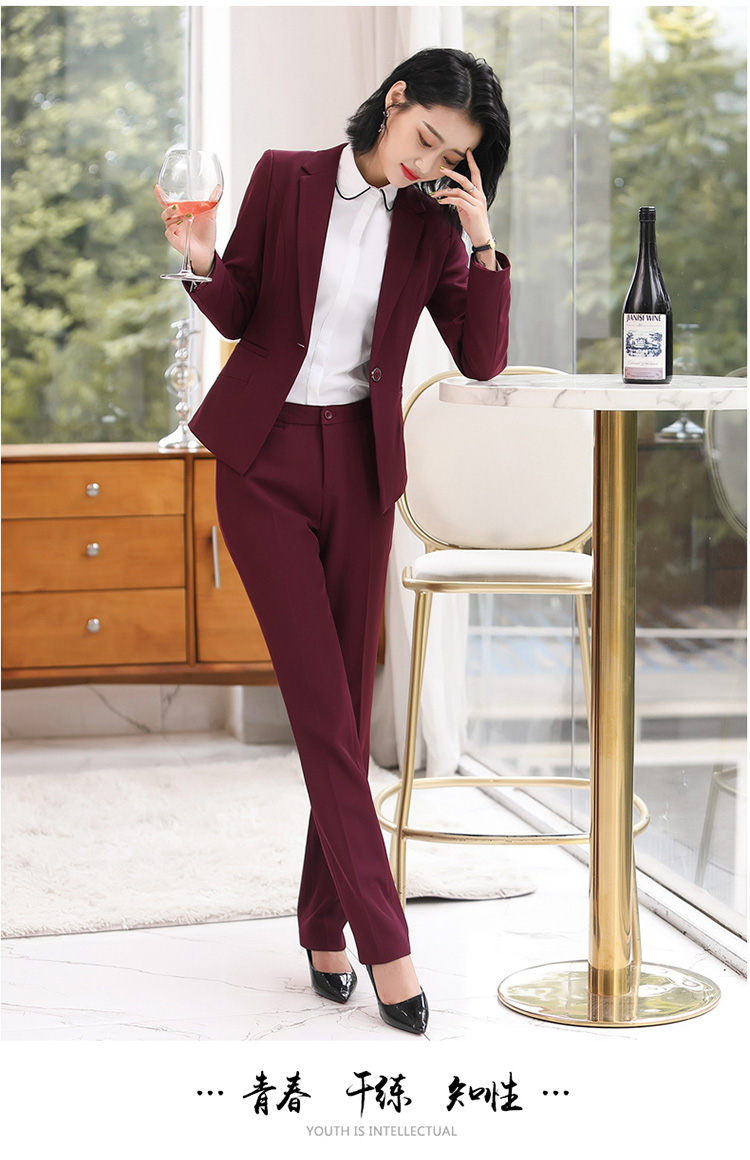 H28a27ed5ee6545549e5bbfd34ee65d2fT - Autumn Business Casual Long Trousers Women Solid Black Blue Red Formal Pants Office Ladies Work Wear Straight Suit Pant 4XL