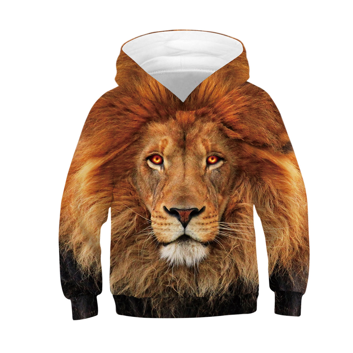 Wolf Tiger 3D Print Boys Hoodies Teens Spring Autumn Outerwear Kids Hooded Sweatshirt Clothes Children Long Sleeve Pullover Tops 6
