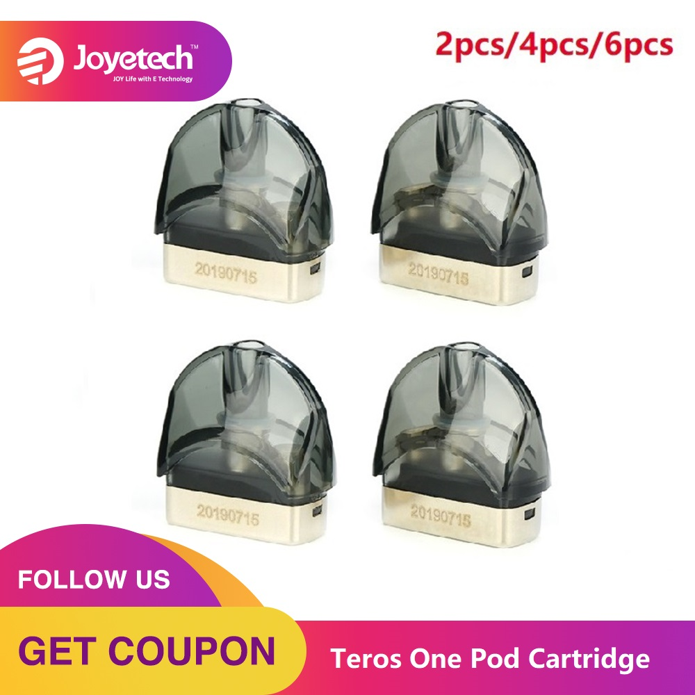 NEW Original 2pcs-6pcs Joyetech Teros One Pod Cartridge 2ml Capacity E-cig Vape Pod With 0.5ohm Mesh Coil For Joyetech Teros One