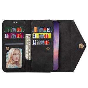 Image 4 - Envelope Flip Leather Wallet Phone Case For Samsung S21 Ultra Note 20 10 + 9 8 A71 A51 A70 S20 S10 S9 S8 Plus S10 Lite S7 Edge
