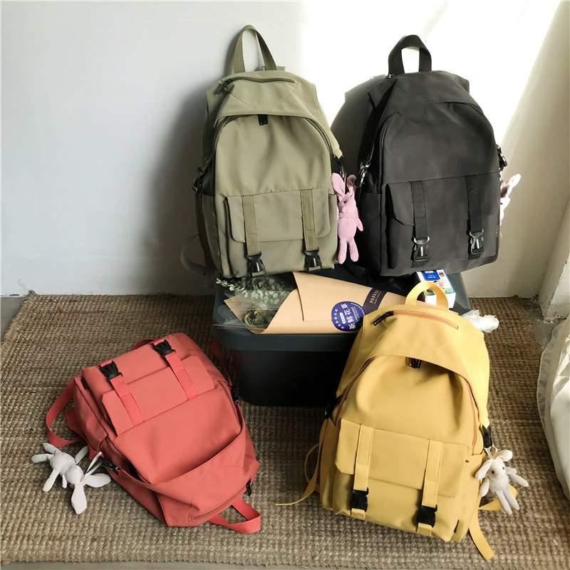HOCODO Female High Capacity Schoolbag For Teenage Girls Waterproof Nylon Women Backpack Multi-Pocket Travel Shoulder Bag Mochila
