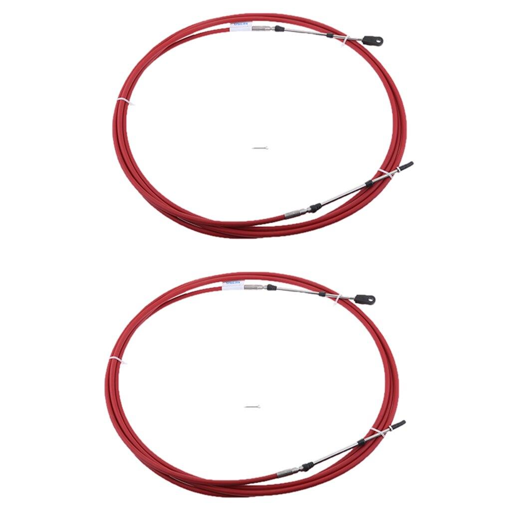 2 pièces 12Ft câble de changement d'accélérateur pour levier de commande de moteur de bateau marin