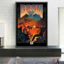 The Ultimate Doom Classic Halo Video Games Oil on Canvas Painting Wall Art Posters and Prints Wall Art Picture for Living Room