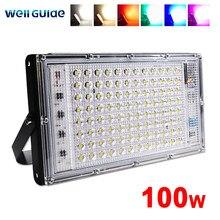 LED światło halogenowe 50W 100W led reflektor zimny ciepły RGB AC 220V 240V LED lampa uliczna wodoodporna IP65 reflektory led światło zewnętrzne