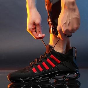 Image 3 - גברים נעלי סניקרס נוח מקרית ספורט נעלי חדש לנשימה Tenis Masculino Adulto זכר אדום סתיו להב גדול גודל 50