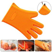 1PC Silicone Glove Kitchen Heat Resistant Gloves Temperature Gloves Cooking Baking BBQ Oven Gloves Kitchen Accessories cakelove heat resistant bbq glove fire insulation gloves kitchen oven grill bake gloveskitchen tools baking accessories