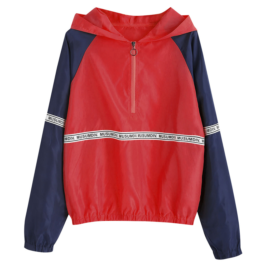Sweatshirts Hooded Female Korean Style Casual Pullovers Long Sleeve Letter Print Casual Hooded Sweatshirt Top roupas Femininas