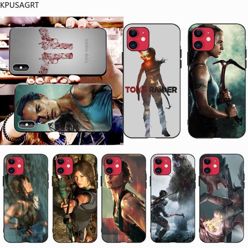 KPUSAGRT tomb Raider Cassa Del Telefono per il iphone 12 pro max 11 pro XS MAX 8 7 6 6S Plus X 5S SE 2020 XR caso