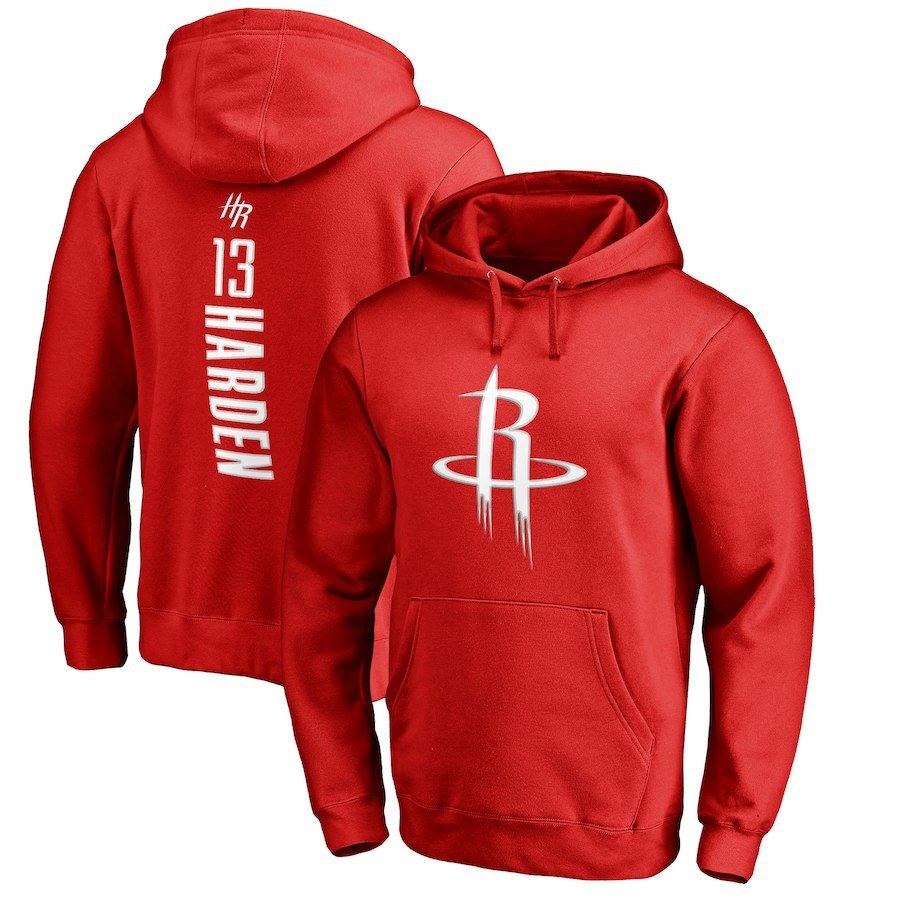 NBA Rockets Harden Basketball Hoodie Men's Hooded Pullover Customizable Logo Support Union All Team