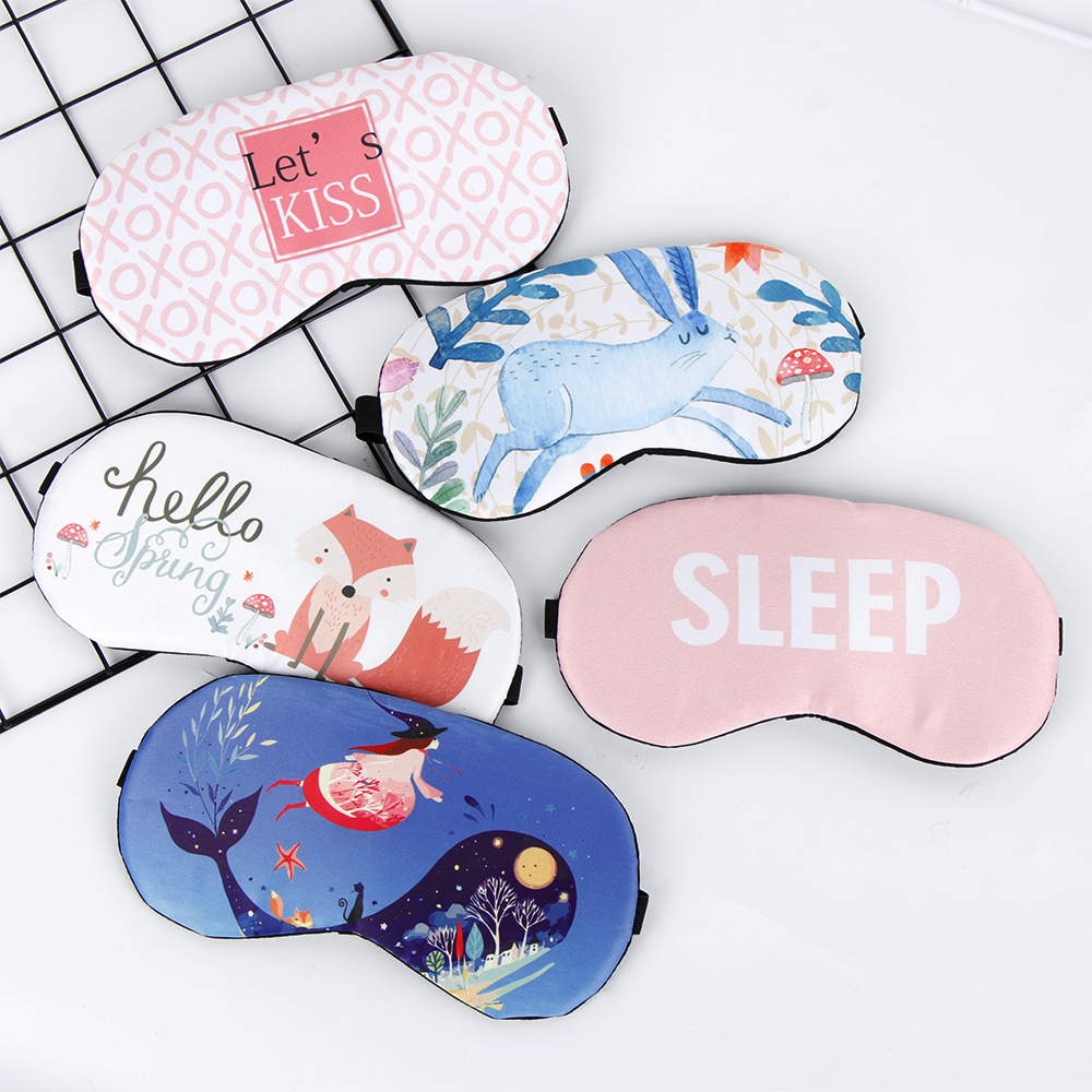 2019 Women Cartoon Animal Sleeping Eye Mask Soft Padded Sleep Shade Cover Rest Relax Blindfold Travel Sleeping Nap Aid Eye Patch