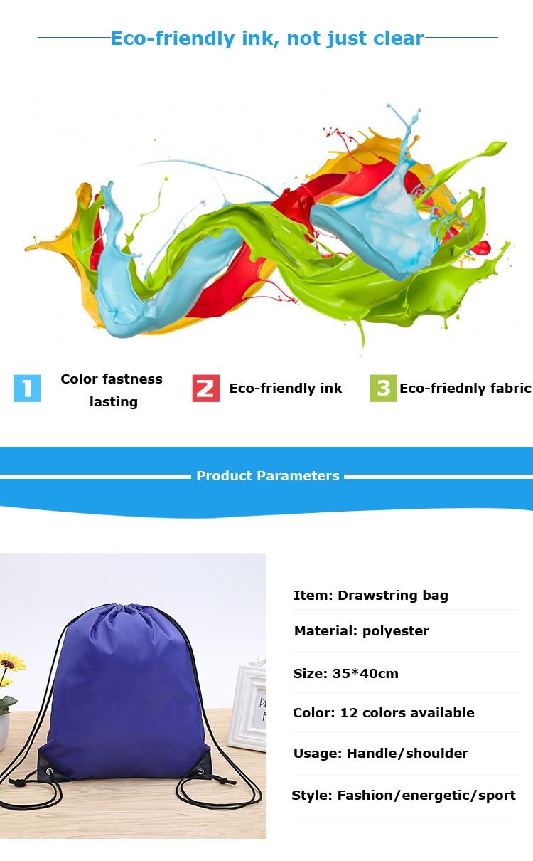 bags ginásio mochila drawstring sapatos saco roupas mochilas