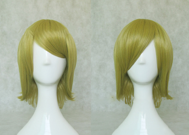 HAIRJOY Synthetic Hair Short Blonde Vocaloid Kagamine Rin Cosplay Wig High Temperature Fiber Free Shipping 3 Colors Available 20