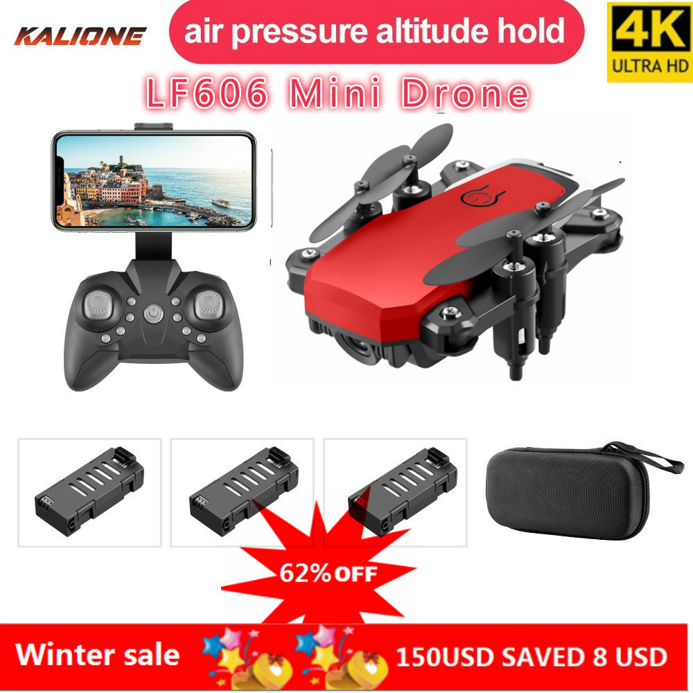 LF606 Wifi FPV Foldable RC Drone with 4K HD <font><b>Camera</b></font> Follow Altitude Hold 3D Flips Headless RC Helicopter Mini Aircraft Kid's Toys image