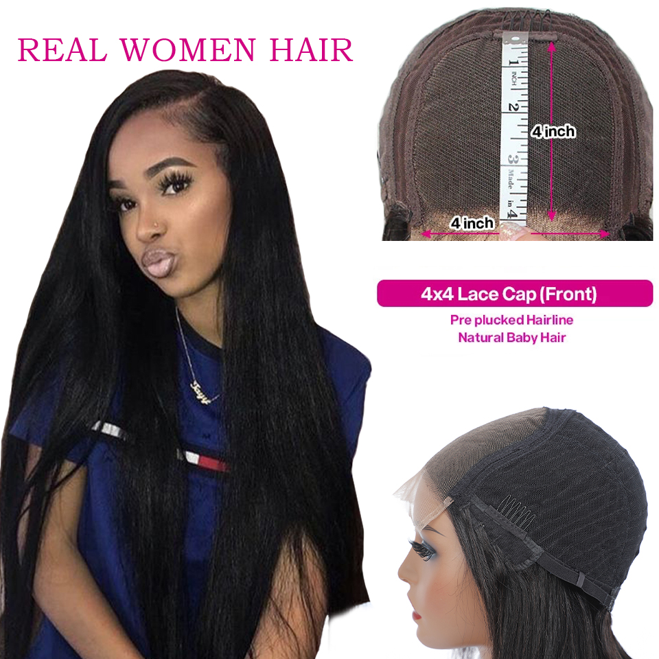 13x4 Lace Front  Wigs  Straight  Wigs 360 Lace Frontal Wig Pre Plucked 4x4 Lace Closure Wigs 3