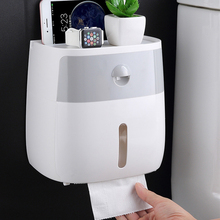 Toilet Paper Holder Shelf Tray Roll Tube Wall Mount Tissue Box Waterproof Bathroom Storage Organizer
