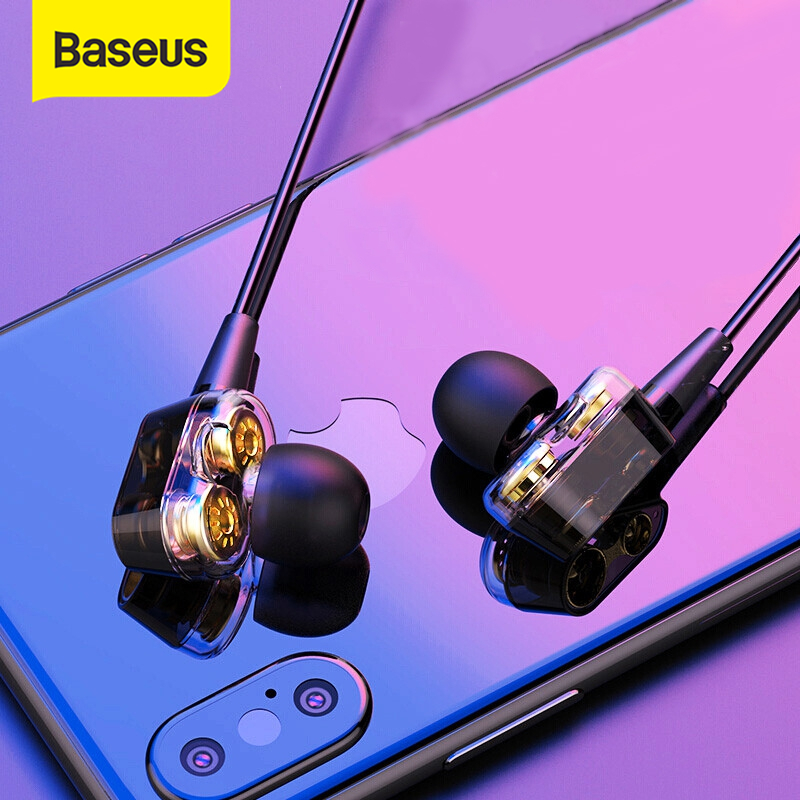 Baseus H08 3D Audio Hi-Fi Gaming Earphone For PS4 Xbox 3.5mm Jack Wired Game Earphones With HD Mic For PUBG Overwatch