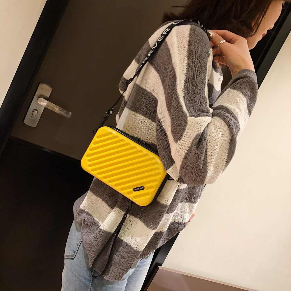 WENYUJH Роскошные ручные сумки женские новые чемоданная форма сумки модные миниатюрный чемодан сумка женский клатч известного бренда сумка мини коробка сумка 2019