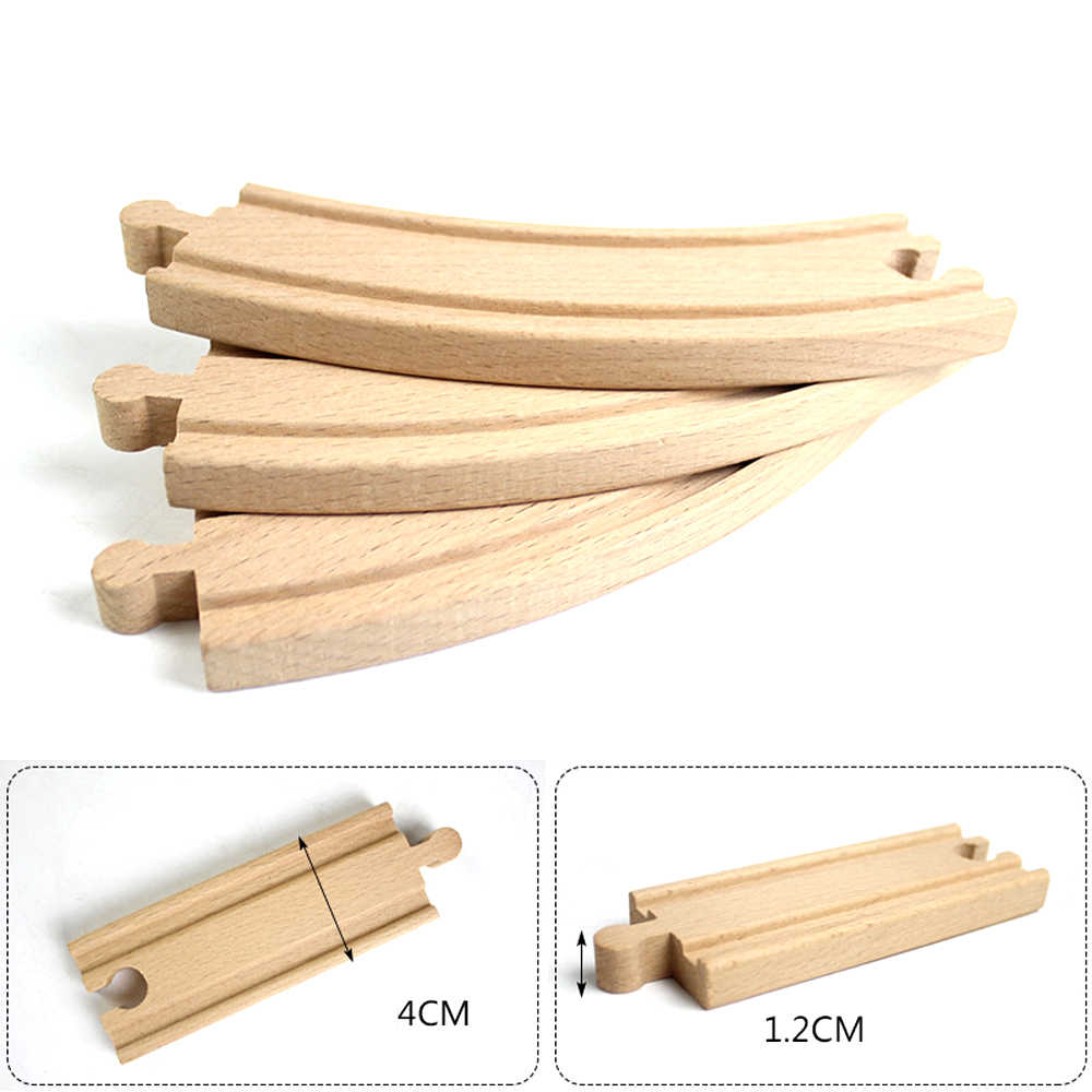 Multiple Wooden Track Parts Beech Wood Railway Train Track Accessories Fit for Thomas Biro Wooden Tracks Toys for Children Gifts