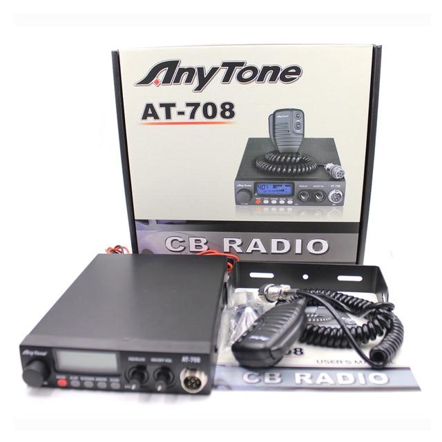 Anytone AT-708 Plus CB Radio 8W 27MHz 480AM-480FM 24.265-29.655MHZ High Quality Car Mobile Radio Station Communciator 1