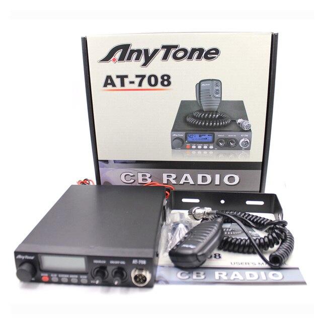 Anytone AT 708 Plus CB Radio 8W 27MHz 480AM 480FM 24.265 29.655MHZ High Quality Car Mobile Radio Station Communciator