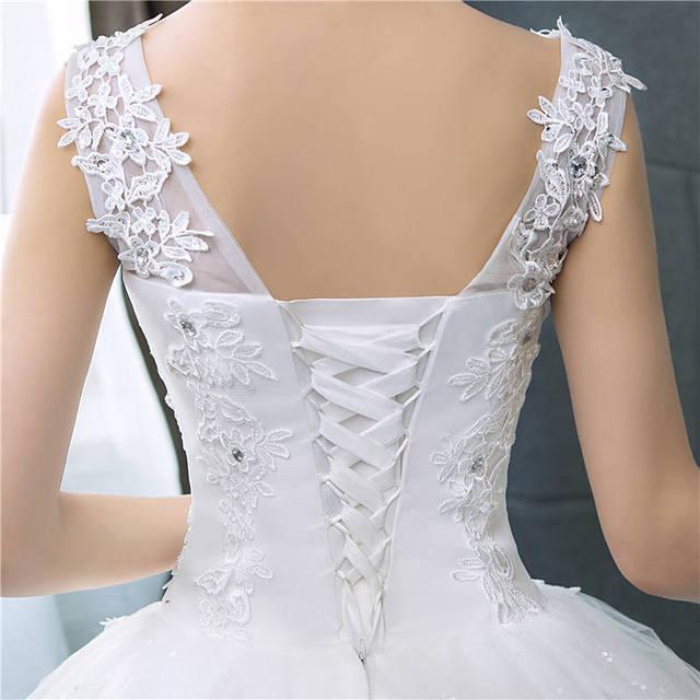 It's yiiya vestido de noiva com decote em v, vestido de casamento simples com lantejoulas brancas, barato, de noiva hs288 6