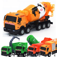 Children Educational Alloy Engineering Toy Car Mining Car high simulation Fire truck,fire ladder,climbing car Garbage Truck(China)