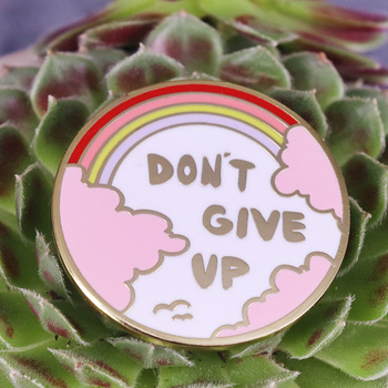 Don't give up the daydream Lapel Pin Rainbow Positive Bright Motivational, Inspirational for her, Best friend gift Enamel pin image