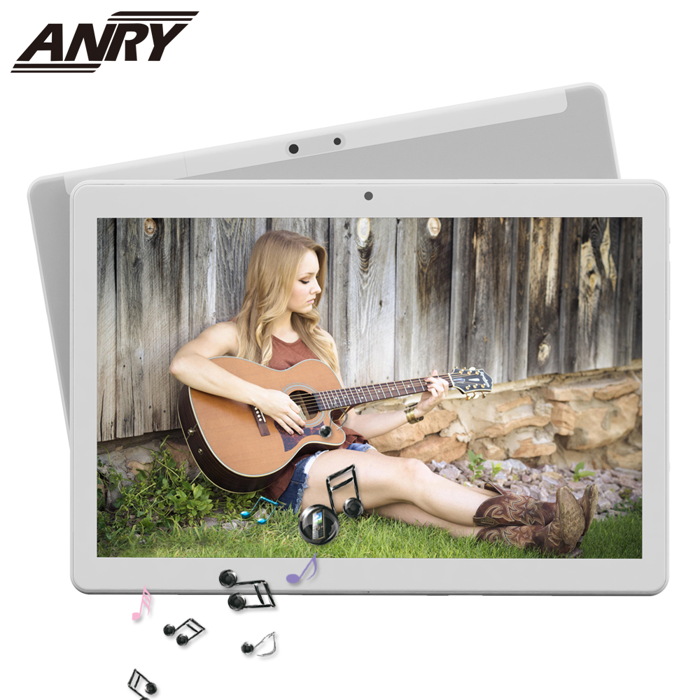 ANRY 10 Inches Tablet PC Google Play Android 7.0 Octa Core 1280x800 Touch Screen 5MP Dual Camera 4G RAM 64GB ROM 5000mAh WiFi