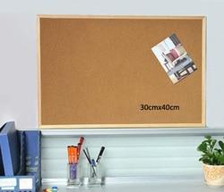 Office Cork Board Wood Hanging Bulletin Board 30X40cm
