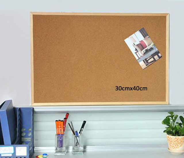 30x30cm Wall Hanging Cork Board Black Frame Message //Notice //Memo Board