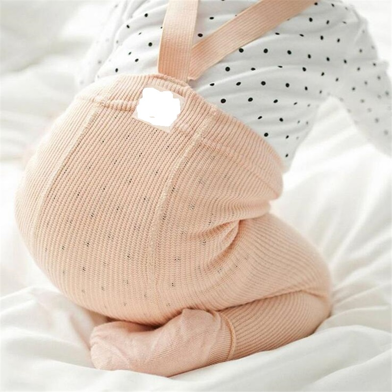 Cotton Baby Pantyhose Newborn Baby Pants High Waist Cross Belt Baby Leggings Baby Boys Girls Pants