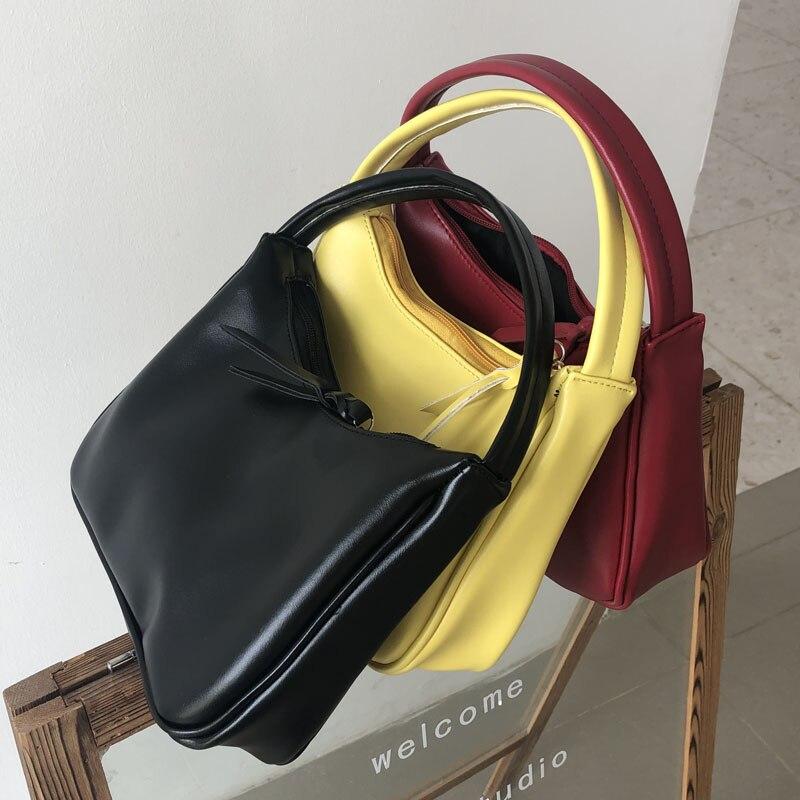 Bolsa para Bolsas de Couro para Mulheres do Vintage de Luxo Designer de Mulheres Bolsa de Embreagem da Marca Novo Baguette Bolsalas Feminina Senhoras 2020