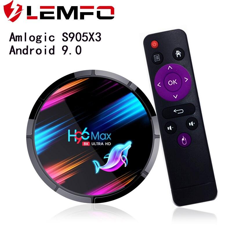LEMFO TV BOX S905X3 Android 9.0 8K Smart TV BOX 4GB 64GB HDMI 2.1 LAN 1000M 2.4G/5G WIFi Netflix Hulu Flixster Youtube SmartBOX(China)