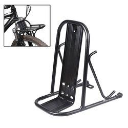 Rower metalowa półka przednia regulowany cykl Cargo Rack bagażnik rowerowy towar Carrier Pannier uchwyt do części rowerowych