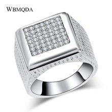 Мужское кольцо в стиле хип-хоп Wbmqda, тибетское серебряное кольцо со стразами, винтажное большое кольцо в стиле панк-рок, тибетские ювелирные ...