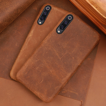 Leather Phone Case For Xiaomi Redmi Note 5 6 7 8 Pro 4X 5 6a 7 7a Mi 8 9 se 9T A1 A2 lite A3 Y3 Poco F1 Crazy horse skin Cover