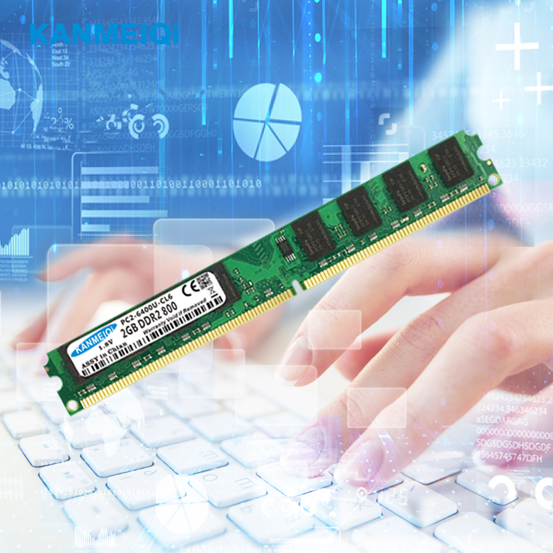 KANMEIQi ddr2 ram 2GB 800MHz Desktop Dimm 4gb 2pcsX2GB 533 667MHz Memory 240pin 1 8V New PC2 6400 CL6 in RAMs from Computer Office