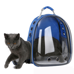 Image 1 - 2019 Beautiful Breathable Portable Pet Carrier Bag Outdoor Travel puppy cat bag Transparent Space Pet Backpack Capsule
