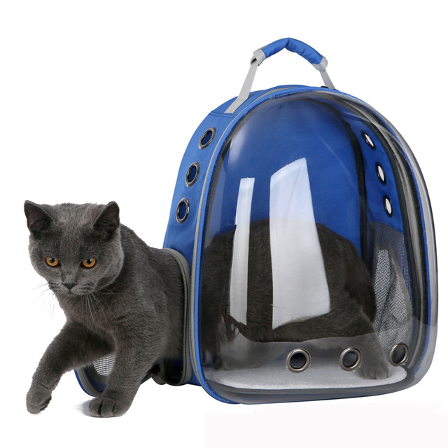 2019 Beautiful Breathable Portable Pet Carrier Bag Outdoor Travel puppy cat bag Transparent Space Pet Backpack Capsule
