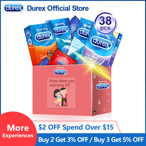 Durex Mix Condom Ultra Thin Intimate Goods Contraception Sex Products Natural Rubber Penis Cock Sleeve Condoms For Men(China)